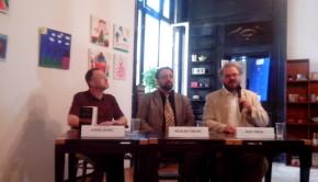 Sorin Lavric, Nicolae Turcan și Radu Preda luându-se la trântă cu Marx
